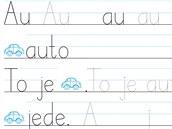 Nové nevázané písmo NNS Script, které vytvořilo nakladatelství Nová škola.