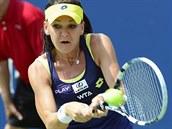 V AKCI. Polská tenistka Agnieszka Radwaňská ve finále turnaje žen v Montrealu.