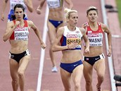 Lenka Masná (vpravo) v rozběhu na 800 metrů na mistrovství Evropy v Curychu.