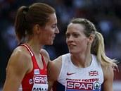 Dvě nejrychlejší ve druhém semifinále závodu na 400 metrů překážek na