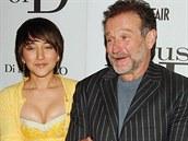 Robin Williams a jeho dcera Zelda (New York, 10. dubna 2005)