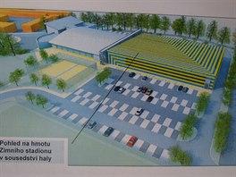 Jeden z návrhů, jak by mohl vypadat nový zimní stadion v Teplicích.