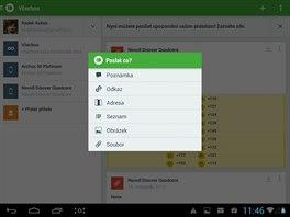 Google Gesture Search používá k vyhledávání v obsahu tabletu gesta psaná prstem...