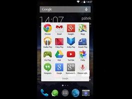 Domovská obrazovka telefonu Vodafone Smart 4 Power