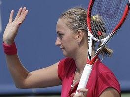 JÁ SE LOUČÍM. Petra Kvitová po porážce ve druhém kole turnaje v Cincinnati.