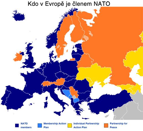 Kdo v Evrop� je �lenem NATO
