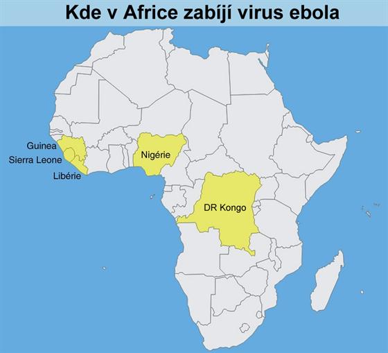 Kde v Africe zabíjí virus ebola
