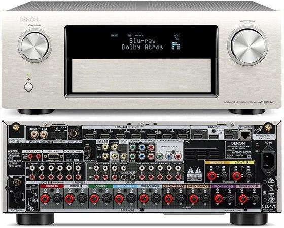 AV receiver Denon pro ozvučení Dolby Atmos.