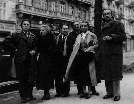 Česká surrealistická skupina, 1935, Karlovy Vary (André Breton, Jacqueline