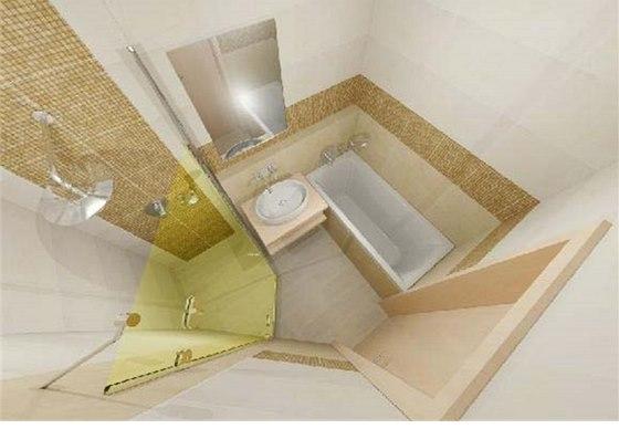Vizualizace: pohled do koupelny