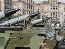 Vojenská přehlídka v centru Kyjeva (24. srpna 2014)