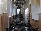 Nemocnice v Doněcku zasažená dělostřelbou (28. srpna 2014)