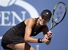 Srbská tenistka Ana Ivanovičová hraje ve 2. kole US Open proti Karolíně...