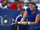 Česká tenistka Petra Kvitová hraje ve 2.kole US Open proti krajance Cetkovské.