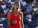 Srbská tenistka Aleksandra Kruničová slaví postup do 3. kola US Open, kde se...