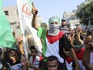 Podporovatel� Hamasu v Raf�hu (17.srpna 2014).