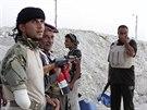 Do boje proti Islámskému státu se zapojili kmenoví bojovníci (28. srpna 2014).