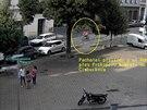 Lupič na odcizeném kole na Prokopově náměstí v Praze