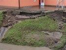 Mutěnice na Hodonínsku zasáhl silný přívalový déšť (23. srpna 2014).