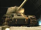 IS-122 před restaurováním v lešanské expozici.
