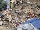 Tragické sesuvy půdy v japonské Hirošimě.