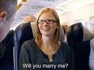 """""""Proč nejsi v práci?"""" řekla Marieke, když viděla svého přítele v letadle."""