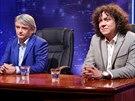 Michal Suchánek a Richard Genzer v talkshow TGM