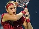 KAM TO JDE. Petra Kvitová v semifinále turnaje v New Havenu.