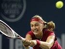 DOSÁHNU. Petra Kvitová v semifinále turnaje v New Havenu.