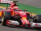 NA TRATI. Kimi Räikkönen na okruhu v belgickém Spa.