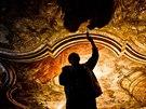 Kristus lékárníkem. Jedna z dalších vzácných maleb, kterou nyní na Kuksu odkrývají (20.8.2014).