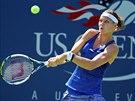 Česká tenistka Lucie Šafářová v duelu 1. kola US Open.
