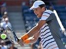 Tomáš Berdych v duelu 2. kola US Open se Slovákem Kližanem.