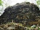Tamchén se podobně jako Lagunita také mohl pyšnit rozlehlými budovami.
