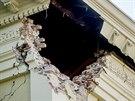 Poškozený dům v Napě po pondělním zemětřesení (25. srpna 2014)