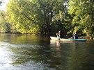 Začátek plavby byl ze Soumarského mostu, v případě dobrých podmínek je možné...