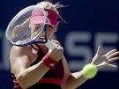 Timea Babosová hraje proti Lucii Šafářové na US Open.
