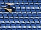 PRÁZDNÉ HLEDIŠTĚ. Utkání Simony Halepové v 1. kole US Open příliš lidí do...