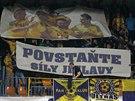 Transparent jihlavských fanoušků během duelu proti Českým Budějovicím