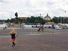 Nábřeží pod královským palácem je mezi běžci oblíbené