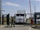 Ruský humanitární konvoj překročil ukrajinské hranice (Izvaryne, 22. srpna...