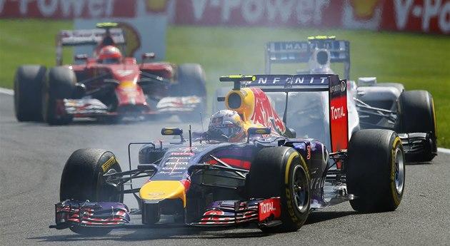 V �ELE. Daniel Ricciardo ve Velké cen� Belgie formule 1.