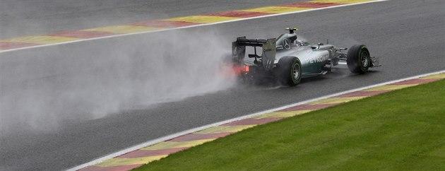 Nico Rosberg b�hem kvalifikace na VC Belgie formule 1