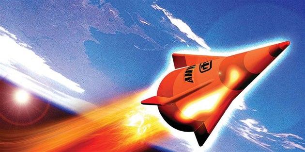 Experimentální zbra� Advanced Hypersonic Weapon v p�edstav� ilustrátora.