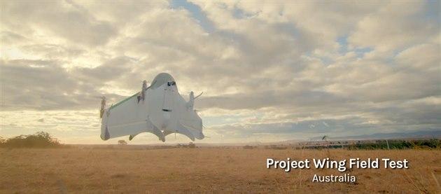 Dron, který Google testuje jako poslí�ka v rámci akce Project Wing.