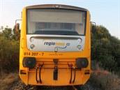 Srá�ka osobního motorového vlaku a Chrysleru ve Vnorovech (27. srpna, 2014).
