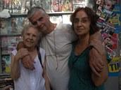 Luiz Carlos Cabral s matkou a sestrou