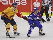 Zlínský Petr �ajánek (vlevo) v utkání Ligy mistr� proti Djurgaardenu.