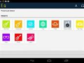 Aplikace Equalizer obsahuje n�kolik z�kladn�ch p�edvoleb, dal�� si m�ete...