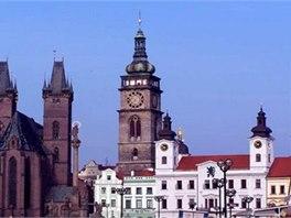 Kostel sv. Ducha a Bílá věž jsou dominantami města